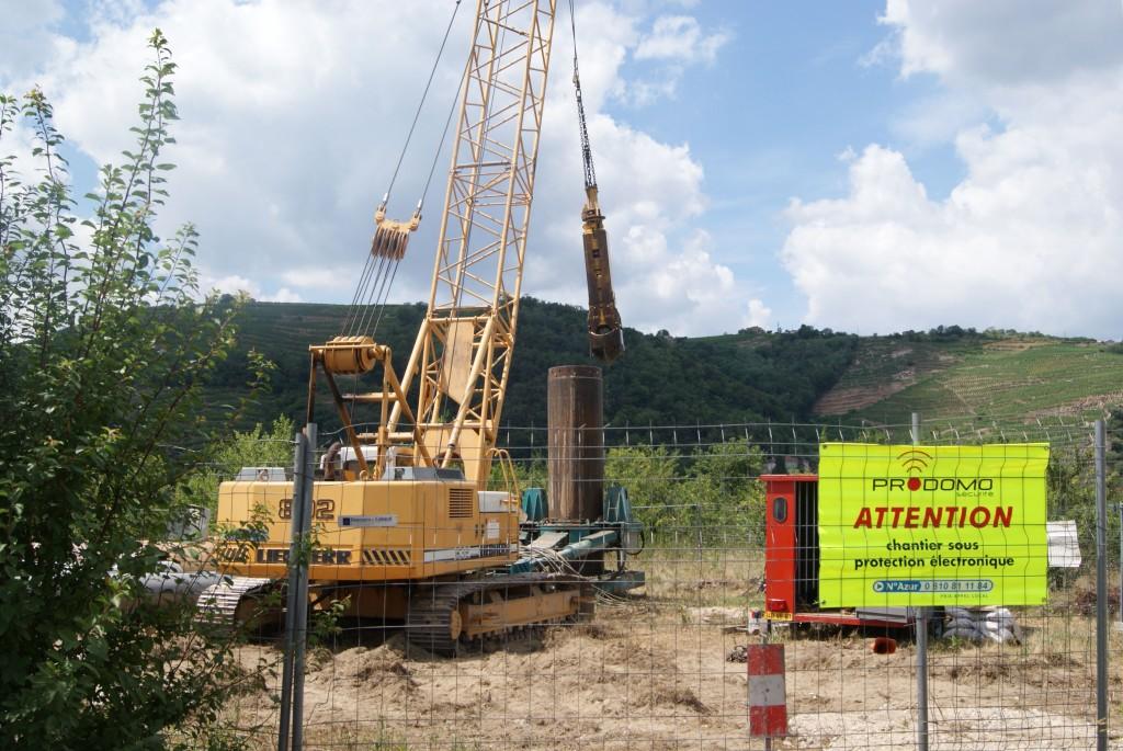 Signalisation et clôture du chantier