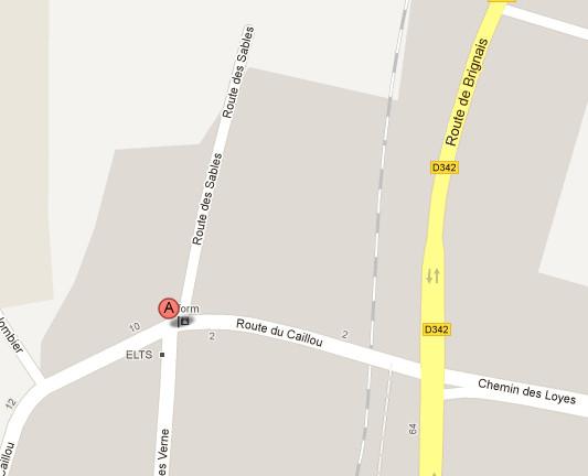 Google maps - Adresse Résurgence Forages